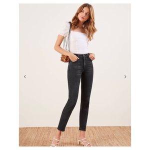 Reformation Black cigarette jeans